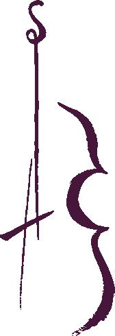 Das SIRA Logo bildet eine Geige im Kalligraphie-Stil ab